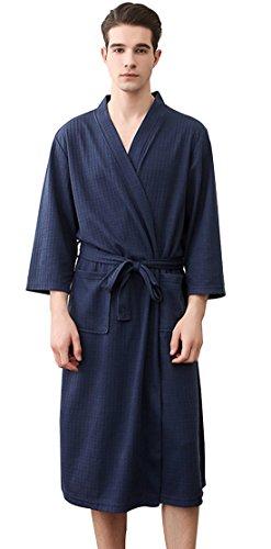 SUIMO - Albornoz Suave Transpirable para Baño Hotel SPA Kimono con Manga Larga para Hombre Mujer ...