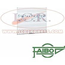 Pizarra blanca con pentagrama estratificada Faibo 122x244cm