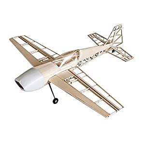 Jamara- 006146-Extra 330 1000 mm CNC Lasercut Kit de construcción Avion RC, Color Madera (6146)