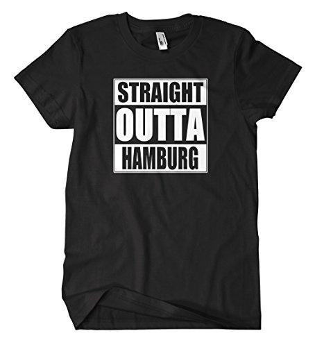Straight Outta Hamburg T-Shirt Schwarz