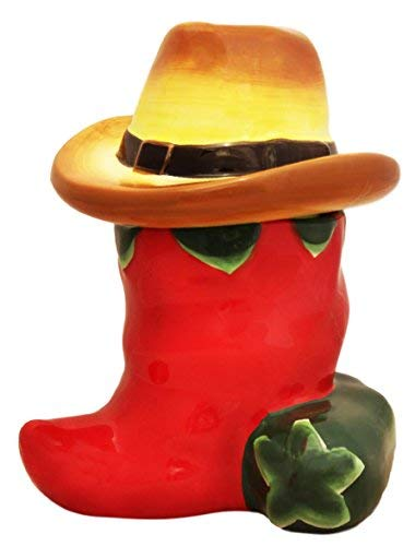 Western Red and Green Chili Pepper Cookie Jar by ACK Green Cookie Jar