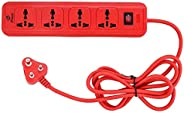 E-Tech 4 Socket Extension Box Board with Surge Protector | Spike Guard | Power Strip | Extension Cord | Flex B
