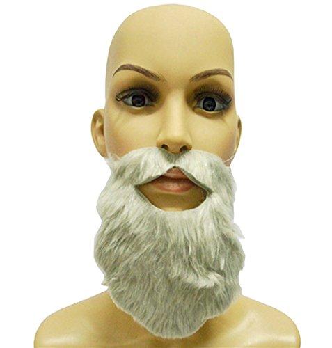 1 X Grau Falschen Bart FüR Klebstoffe Parteien FüR MäNner Oder Frauen - Kinder Oder Erwachsene - Karneval Und Halloween - (X Frauen Kostüme Männer)