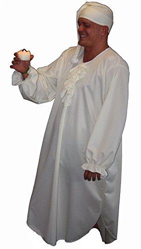 ebenezer scrooge Weihnachten Krippe und Herren Nachthemd-Kostüm, Übergröße 132.08 cm Brust