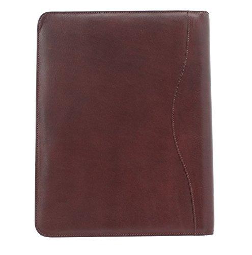 Cartella da Lavoro con Chiusura Laterale Zip Mala Leather Collezione TORO 5100_68 Nero Marrone