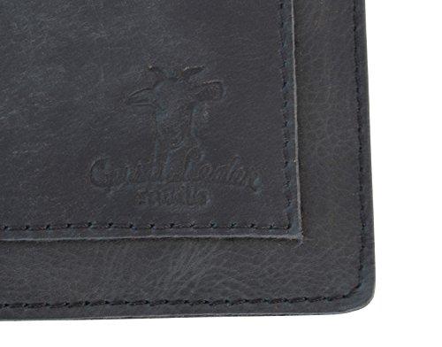 """Gusti Leder studio """"Leigh"""" porta tablet 7'' iPad Mini 7,9'' documenti pratico semplice nero 2L69-17-3"""