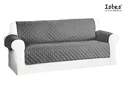 Istes Sofá de 3plazas Impermeable Sofá Protector Impermeable | coberturas en Dos Lados para Perros/Gatos | 190x 167cm | Burdeos Bicolor Blanco Perla O Gris Claro/Gris Oscuro