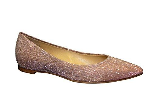 L'Arianna ballerine donna, tomaia in tessuto glitterato.Colore: fior di Malva, Fodera: pelle, Suola: cuoio. Tacco 2,5 cm BL1011 SIRIO MALVA