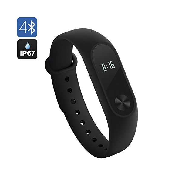 Xiaomi Mi Band 2 Smart Bracelet Heart Rate Monitor Fitness Activity Tracker Bluetooth 40 Pedometer Sleep Monitor Sport Wristband Smartwatch IP67 Waterproof For Android And IOS Global Version