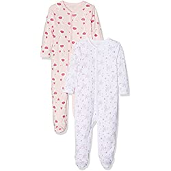 Care Baby Girls' Bea Bodysuit-pack of 2 Multicoloured (Weiss), 50