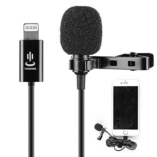 Microfono Lavalier Microfono a condensatore per iPhone X Xr Xs max 8 8plus 7 7plus 6 6s 6plus 5 / iPad (1.5m)