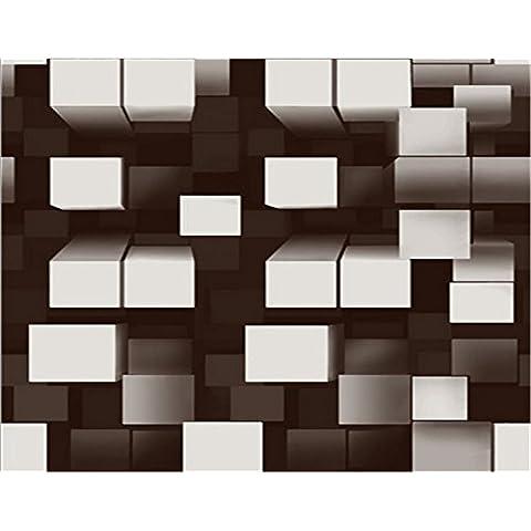Carta da parati Griglia geometrica 3D parete Bar KTV sala