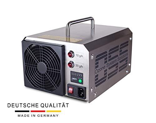 OSS Thirty Plus O3 | UV Ozongenerator mit 30000 mg/h bzw. 30 g/h Ozonleistung | Deutsche Qualität und Telefonsupport | UV-Lampe | Entfernt zuverlässig Gerüche z.B. Brandgeruch, Zigarettengerüche usw.