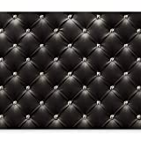 murando - Fototapete 350x256 cm - Vlies Tapete - Moderne Wanddeko - Design Tapete - Wandtapete - Wand Dekoration - modern schwarz Leder f-B-0046-a-a