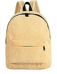 92cd60d358 VHVCX Corduroy Zaino Donne Casuali Di Gusto Squisito Borse Chic School  Vintage Per Ragazze Adolescenti Zaino