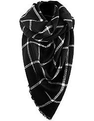 Automne Hiver écharpe de femmes Écharpe automne Foulard d hiver  Surdimensionné dans la couleur noir blanc de la. 80ad1ae6547