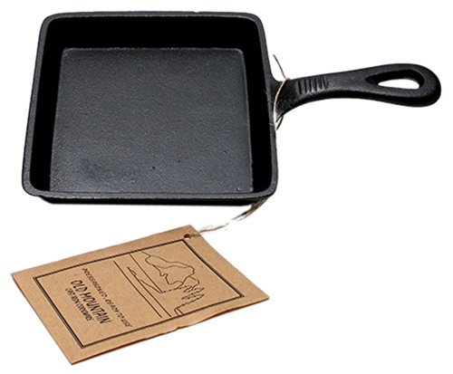Iwgac Home Indoor Decorative Collectibles Old Mountain Cast Iron Preseasoned Square Skillet by IWGAC Old Mountain Cast Iron Skillet