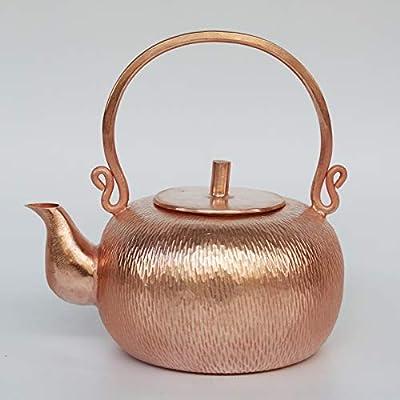 Bouilloire En Cuivre Théière Théièresle Teapot Théière En Cuivre Fait Main En Cuivre Rouge Théière En Cuivre Théière Thé Théière Épaissie Bouilloire Pot De Cuivre De Précision 0.8L
