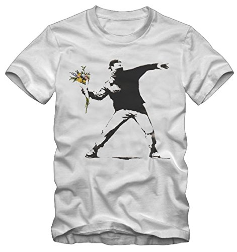 T-shirt Banksy Graffiti War Capitalism Bisura Bianco
