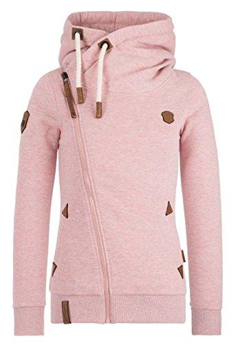 Kapuze Hoody Jacke (Naketano Female Zipped Jacket Family Biz Schmutzmuschi Pink Melange, M)