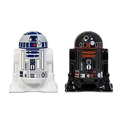 Star Wars R2-D2 Salz- und Pfefferstreuer - R2-D2 und R2-Q5 Salz und Pfeffer Gewürzstreuer Salz- und Pfefferstreuer Set Krieg der Sterne Gewürzstreuerset