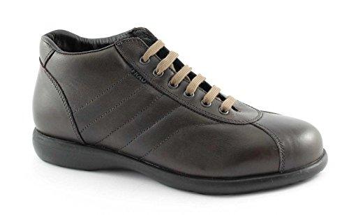 FRAU 27P4 chocolat chaussures homme milieu chaussures de randonnée confort en cuir Marron