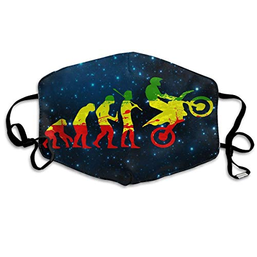WBinHua Masken, Masken für Erwachsene, Breathable Mask Anti Dust, Evolution Motocross Funny Dirtbike Anti Dust Face Mouth Cover Mask Activated Carbon Breath Healthy Safety Warm Windproof ()