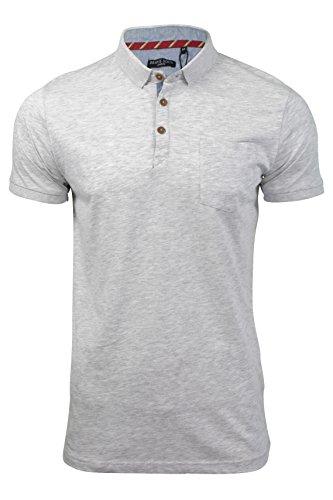 Herren Polo T-Shirt von Brave Soul `Julius`kurzärmlig Ecru Marl