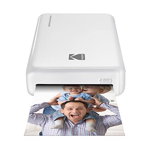 Kodak Foto-Drucker Mini 2 HD, Kabellos und Mobil, mit patentierter Drucktechnologie 4Pass ? Kompatibel mit iOS und Android ? Weiß