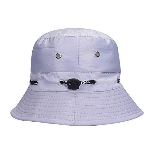 SoSh Grey Men and Women's Sun Hat for Women Hat for Women Beach Bow Knot Hat Cap for Women Summer Beach Outdoor Fashion Accessory Unisex Hat