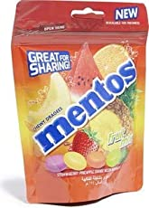 Mentos Chewy Dragees Fruit Mix Refill Bag, 174g