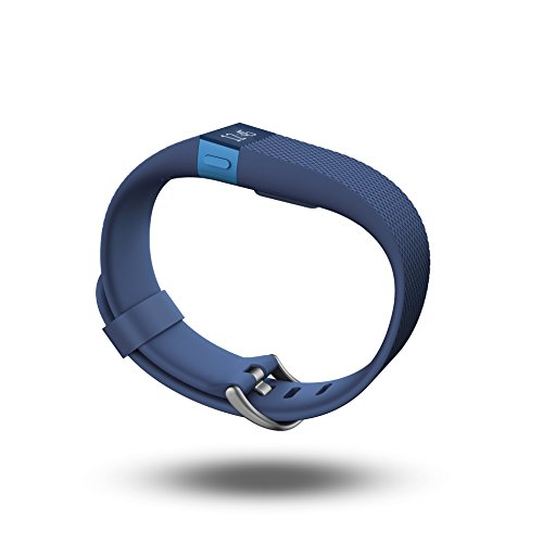 Fitbit Charge HR Heart Rate and Activity Wristband, Large (Blue)
