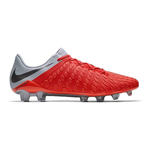 Nike Herren Hypervenom Phantom III Elite FG Fußballschuhe, rot/grau, 44.5 EU