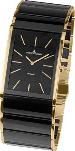 JACQUES LEMANS Damen Analog Quarz Uhr mit Edelstahl Armband 1-1940C