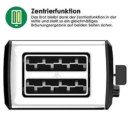 LOFTER-Toaster-Edelstahl-Spiegel-mit-LED-Countdown-Anzeige-2-Scheiben-Toaster-extra-Breit-Schlitz-mit-6-Brunungsstufen-Brotzentrierung-Krmelschublade-Auftau-Aufwrm-und-Stopp-Funktion-800W