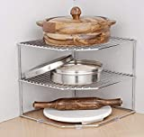 Indian Decor Metal Multipurpose Kitchen Shelf (11X11X9.5Cm, Silver)