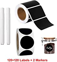 2 Rolls of Chalkboard Labels with 2 markers, Pantry and Storage Stickers for Jars, Pantry Labels for Jars, Mas