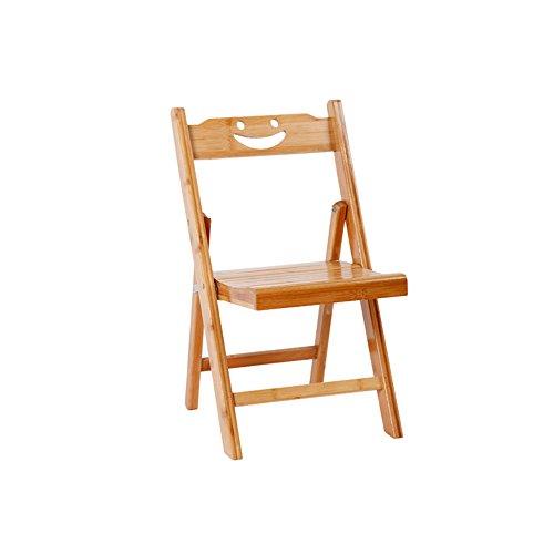 Silla plegable de bambú / con respaldo silla / de madera maciza silla plegable simple / de dormitorio silla simple / taburete / con silla plegable para niños / silla de madera maciza / dos tamaños / (33 * 57cm, 37 * 79cm) ( Tamaño : 33*57cm )