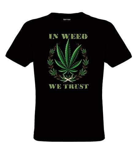 DarkArt-Designs Weed Trust - Kiffer T-Shirt fŸr Herren - Hanfmotiv Shirt Fun Lifestyle regular fit, Grš§e XXL, schwarz