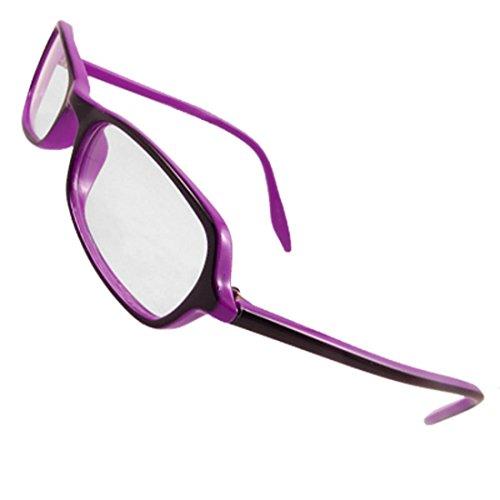 Frau Formatfüllend Two Tone Lila Plano Glasses Brille