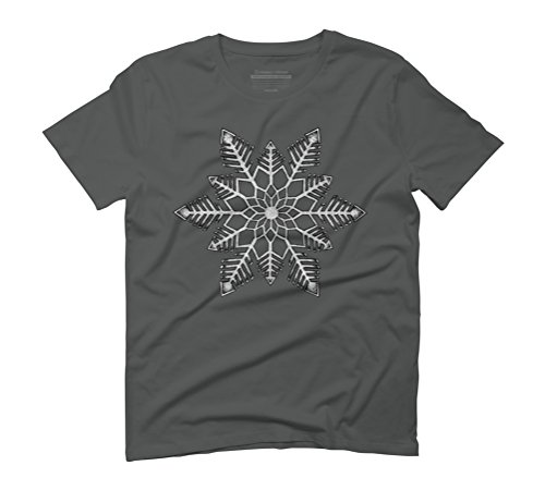Snowflake Men's Graphic T-Shirt - Design By Humans Anthracite