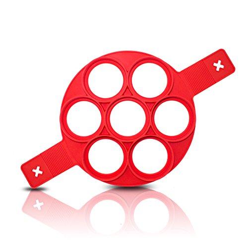 Silikon Pancake Formen 7Kreise antihaftbeschichtet Ei wiederverwendbar Form Ring Pancake Maker 1PCS (Kreis Maker)