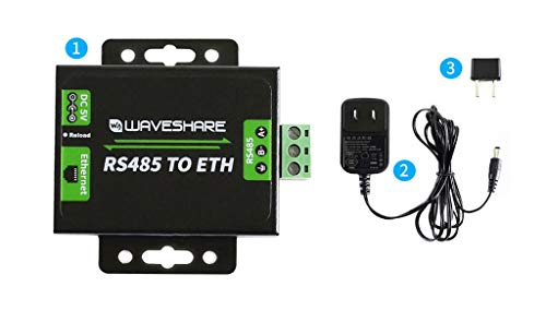Waveshare RS485 to Ethernet Converter Supports Customized  Heartbeat/Registration Packets,Webpage,RFC2217-like Protocol Available  Client Modes TCP