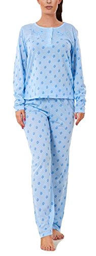 i-Smalls Ladies Pyjama Set All Over Sunflowers Ultra Soft Cotton Long Sleeves with Lilac Eye Mask