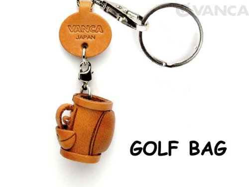 Golf bag Leather Goods Small Keychains VANCA CRAFT-Collectible keyring Made in Japan