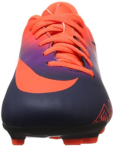 Nike Hypervenom Phade Ii Fg, Scarpe da Calcio Unisex – Bambini Multicolore (Total Crimson/obsidian-vivid Purple)