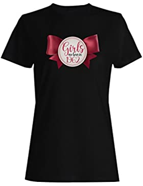 Las muchachas nacen en 1962 novedad linda del arco camiseta de las mujeres ll3f