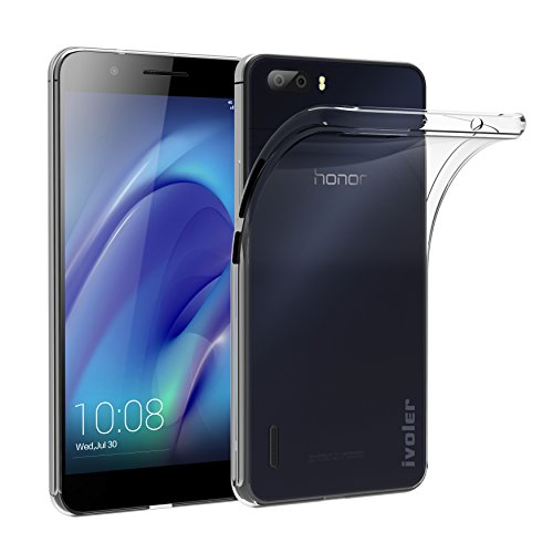 Huawei Honor 6 Plus Custodia, iVoler® Soft TPU Silicone Case Cover Bumper Caso,[Cristallo Chiaro] [Estremamente Sottile] [Semi Transparente] [Shock-Absorption e Anti-Scratch] Slim Anti Slip Case Protector Cover per Huawei Honor 6 Plus (Crystal Clear)- 18 Mesi di Garanzia