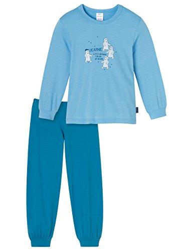 Schiesser Jungen Zweiteiliger Kn Schlafanzug Lang, Blau (Hellblau 805), 116