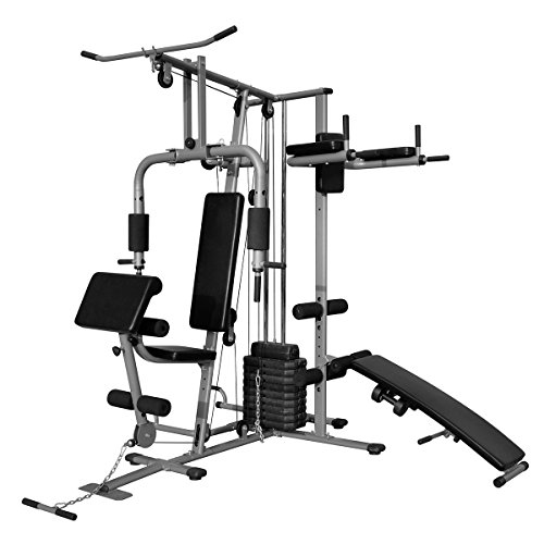 41 lxX7kSSL. SS500  - vidaXL Multi-functional Home Gym All-In-One Pull Down Bench Press Chest Shoulder